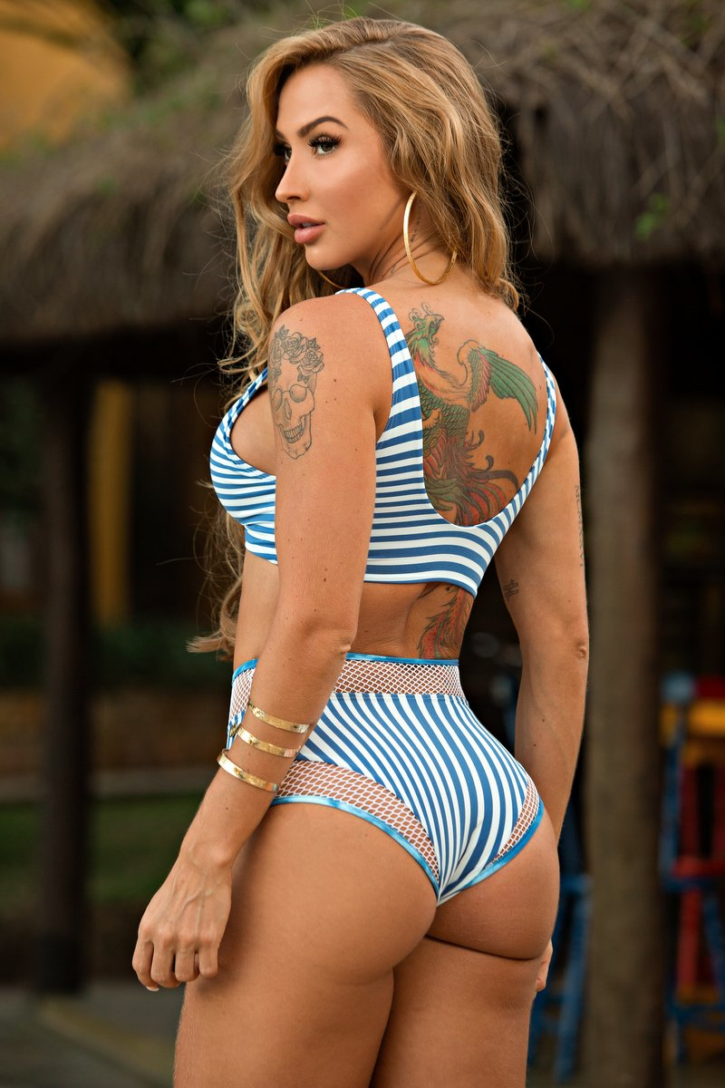 Lets Gym Calcinha Hot Pants Fashion Navy Azul C766A