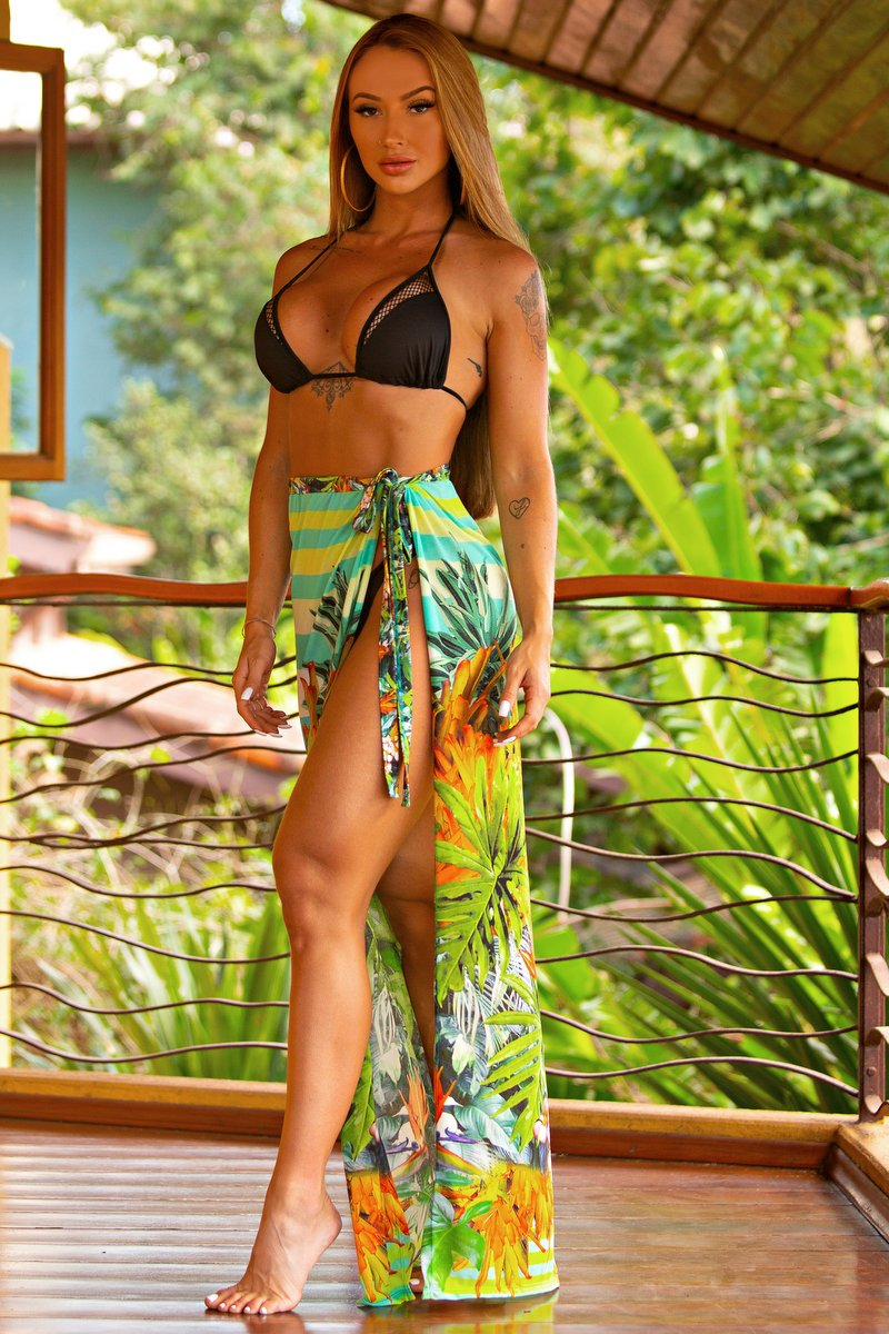 Lets Gym Ibiza Printed Beach Skirt S777