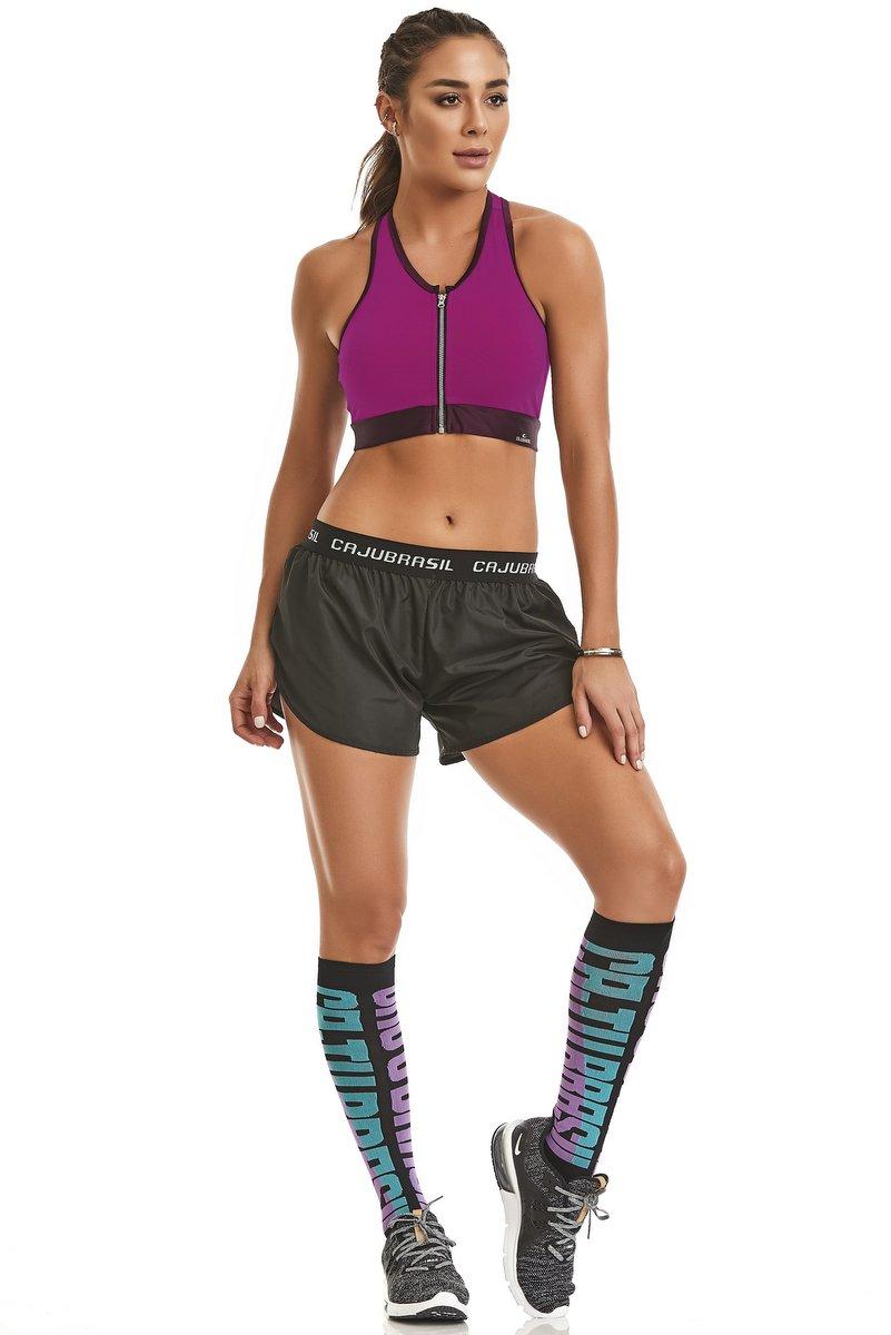 Caju Brasil Shorts Running Preto 11116F12200