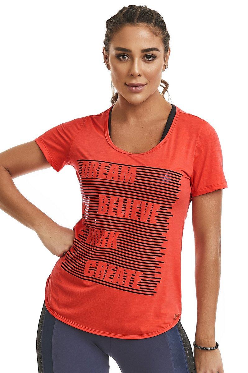 Caju Brasil T-Shirt Believe Orange Neon 11140F9S121