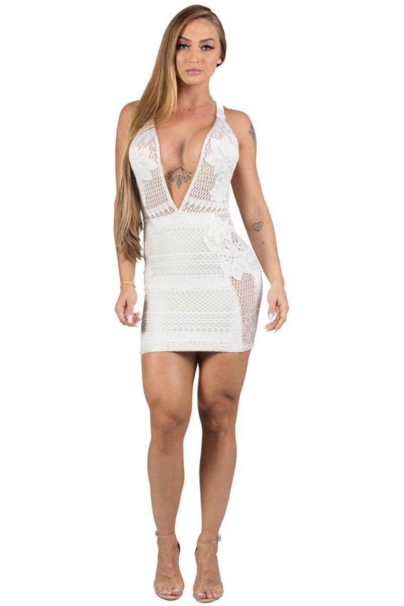 Maria Gueixa Vestido Curto Off White 005652