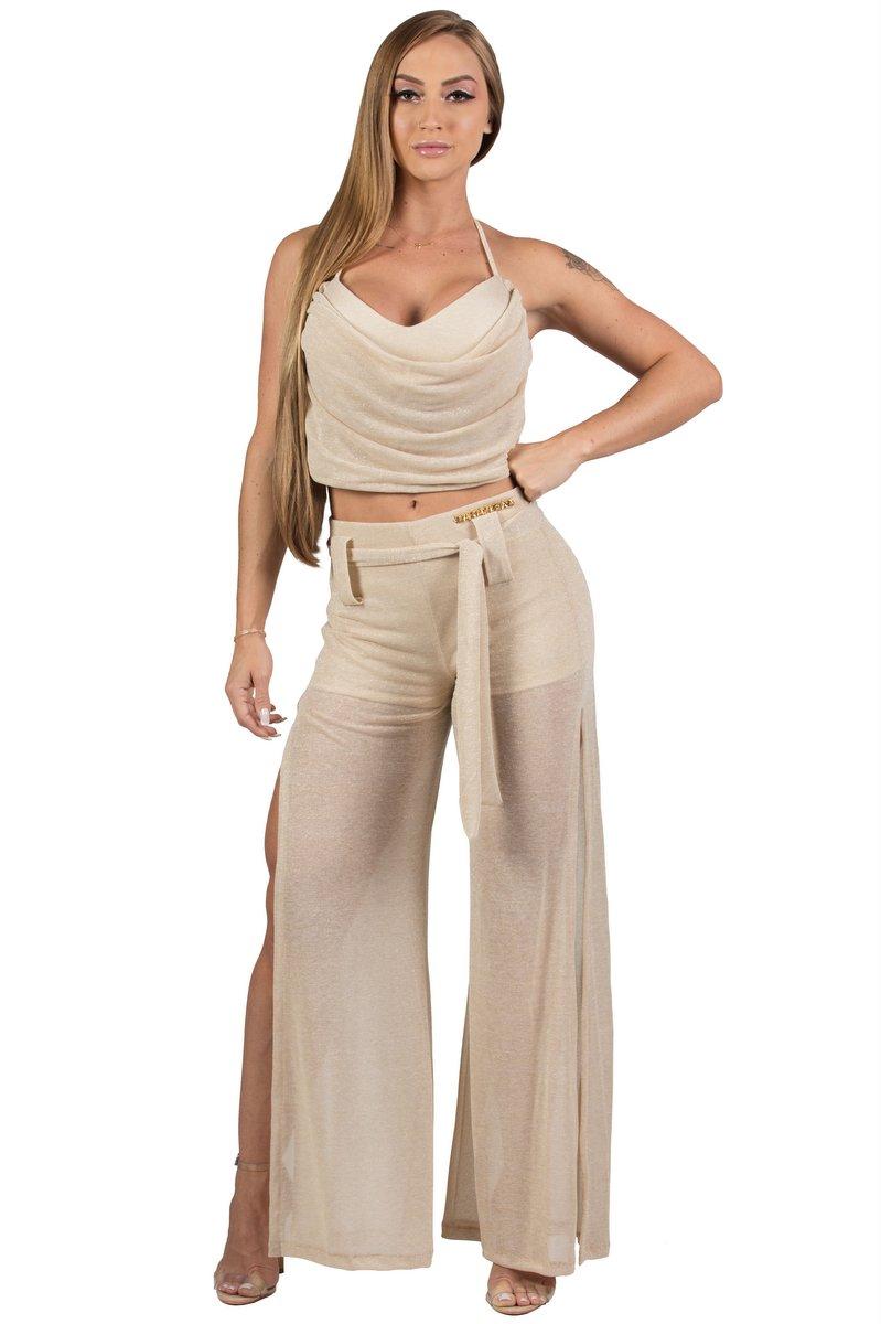 Maria Gueixa Lurex Set Shirt and Pant 005682B