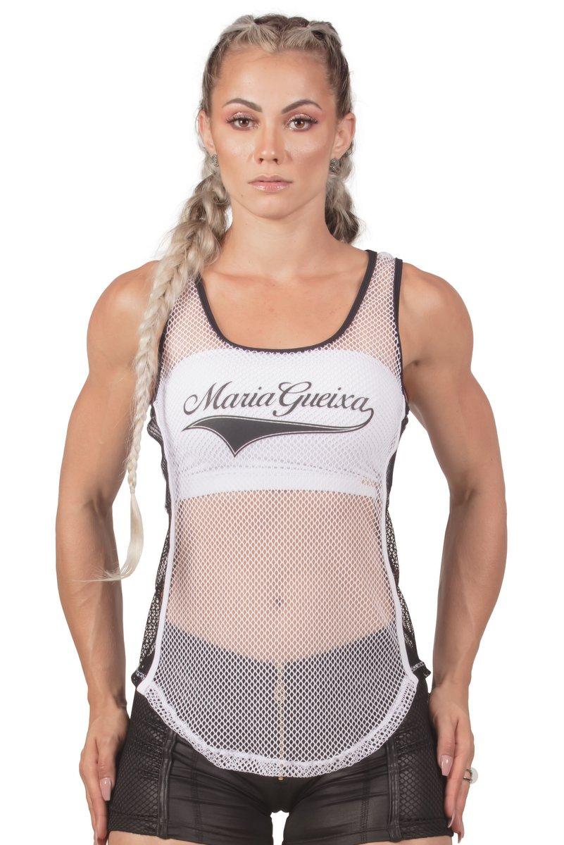 Maria Gueixa Regata Fitness Tela Branca 005662