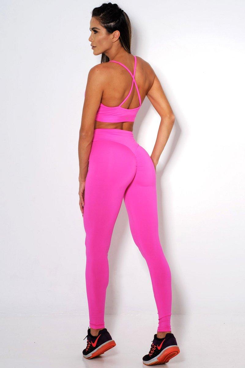 Canoan Calça Legging Comfort Cós Alto Pink 11110
