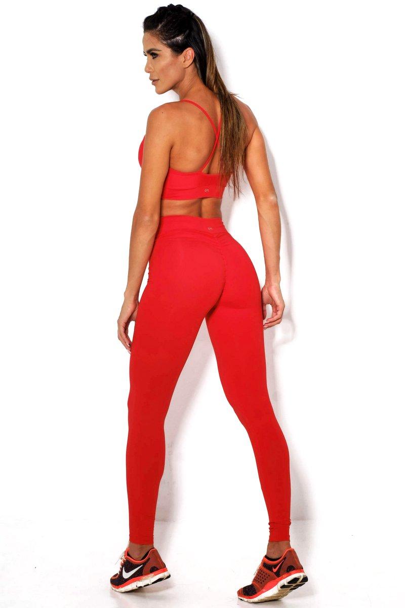 Canoan Calça Legging Scrunch Vermelha 11153
