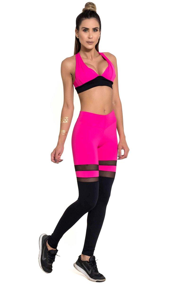 Canoan Calça Legging Scrunch Pink 11183