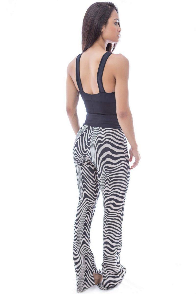Canoan Calça Flare Essencial Zebra 32295