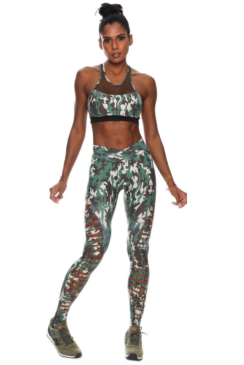 Canoan Calça Legging Laser Camouflage Green 11139