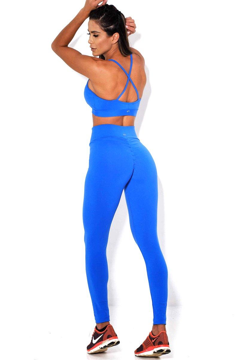 Canoan Calça Legging Comfort Azul 11131