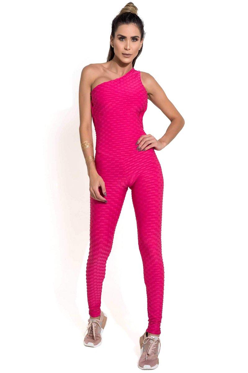 Canoan Macacão Scrunch Tropical Pink 26003