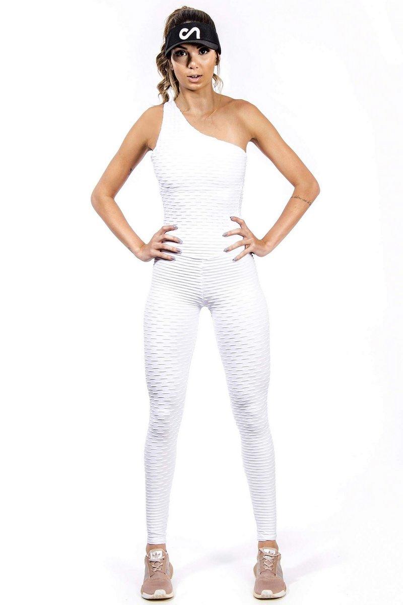 Canoan Macacão Scrunch Tropical Branco 26003