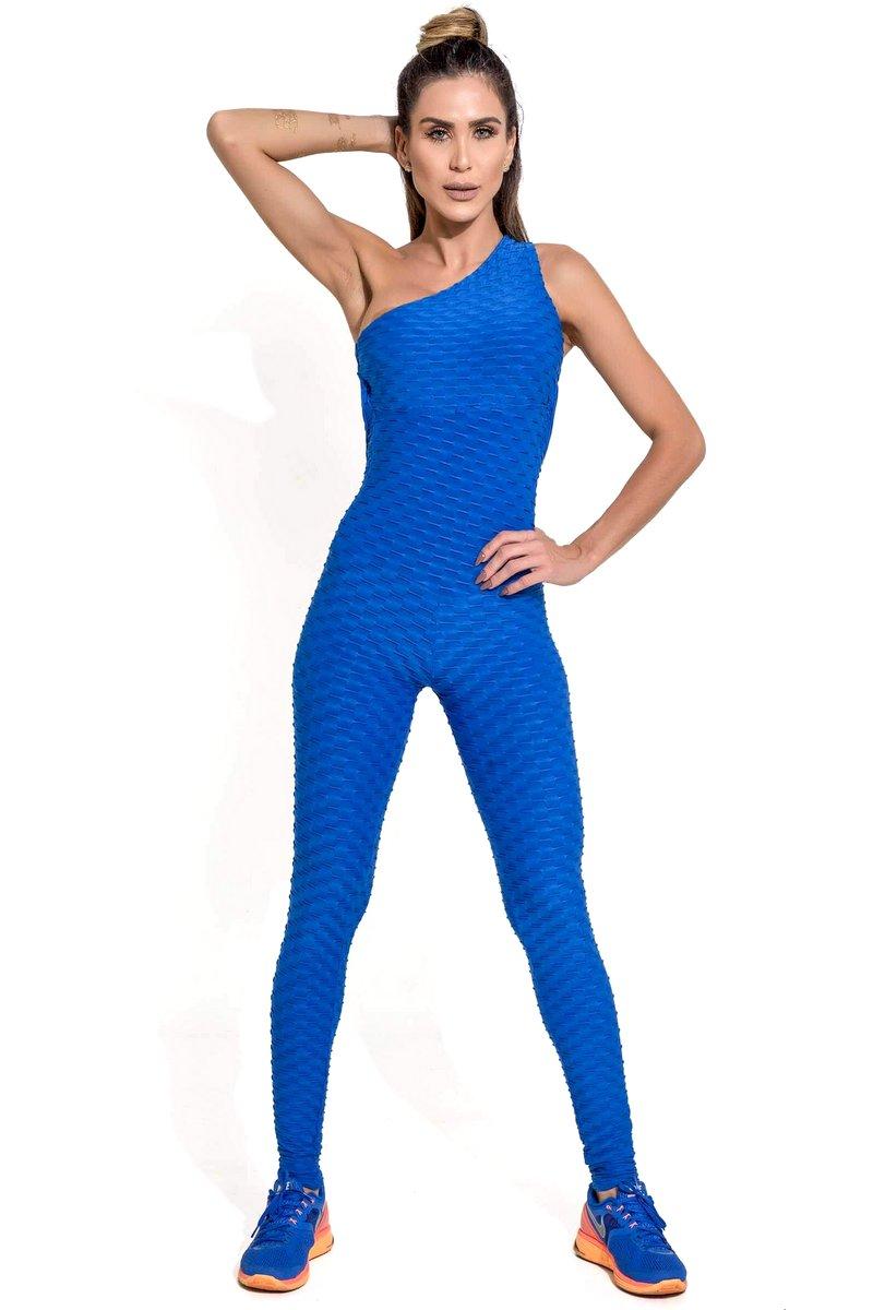 Canoan Macacão Scrunch Tropical Azul 26003