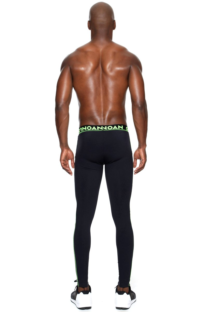 Canoan Legging Masculina Action Preta e Limão 75001