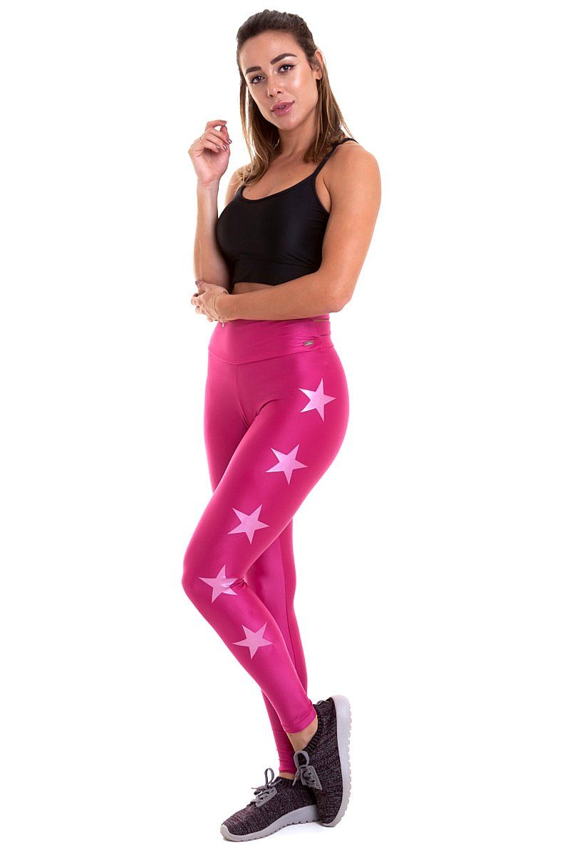 Caju Brasil Calça Legging Stars Rosa 9738F8S178