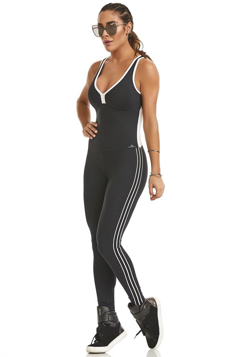 Caju Brasil Macacão NZ Sportwear Preto 11178F7200