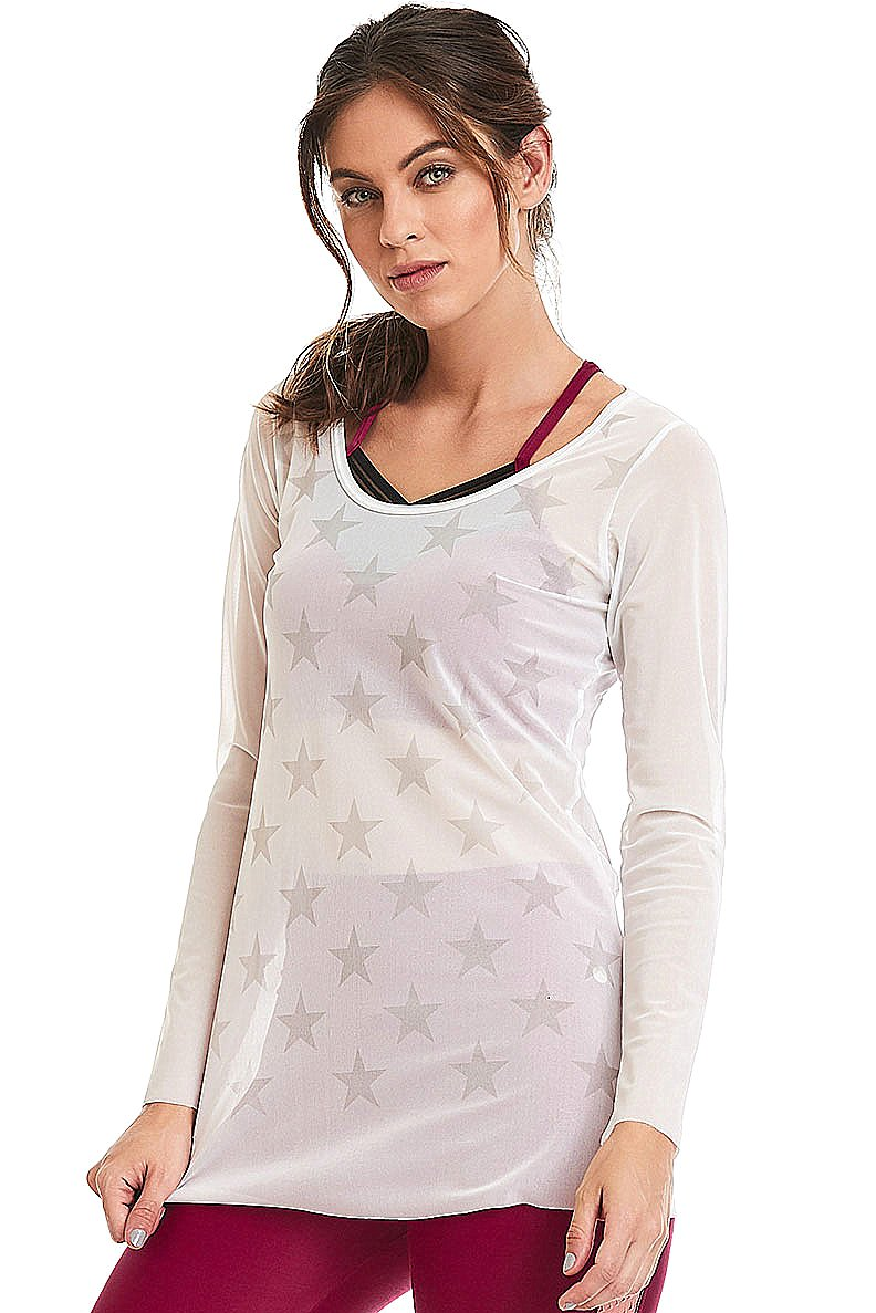 Caju Brasil Shirt White Stars 9728F3S100