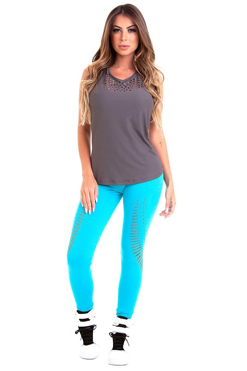 Stayfit Calça Legging Running Turquesa SL117F8L164