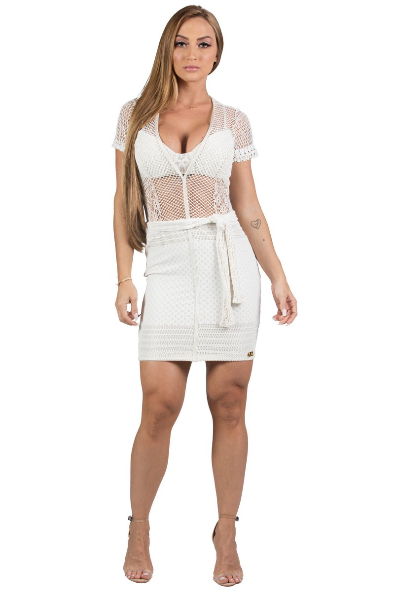 Maria Gueixa Short and Top Dress with Off White Bulge 005688