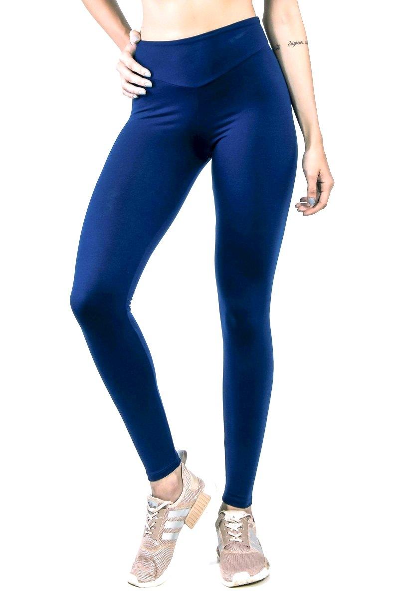 Canoan Calça Legging Comfort Cós Alto Azul Marinho 11110