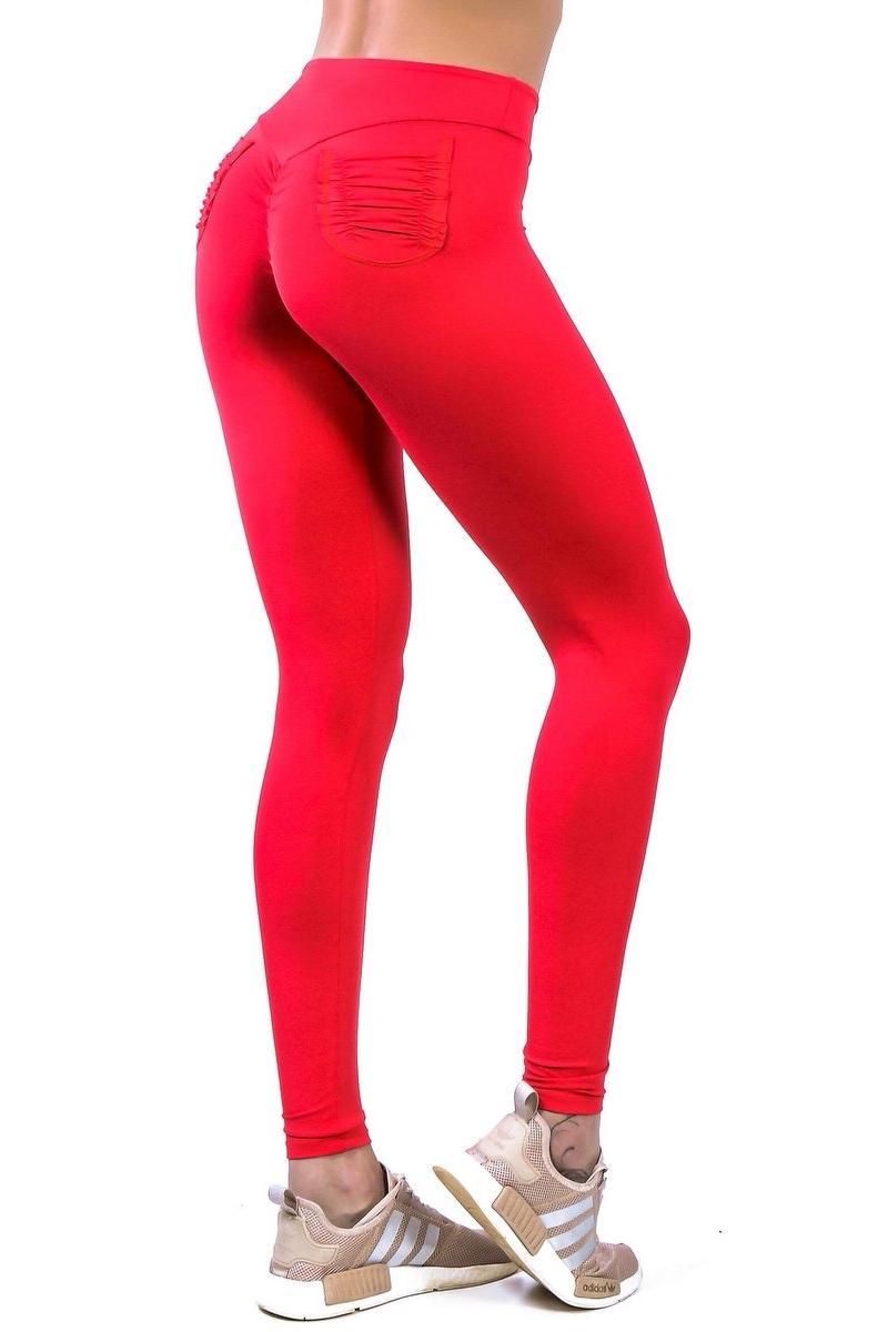 Canoan Calça Legging Scrunch Bolso Vermelha 11090
