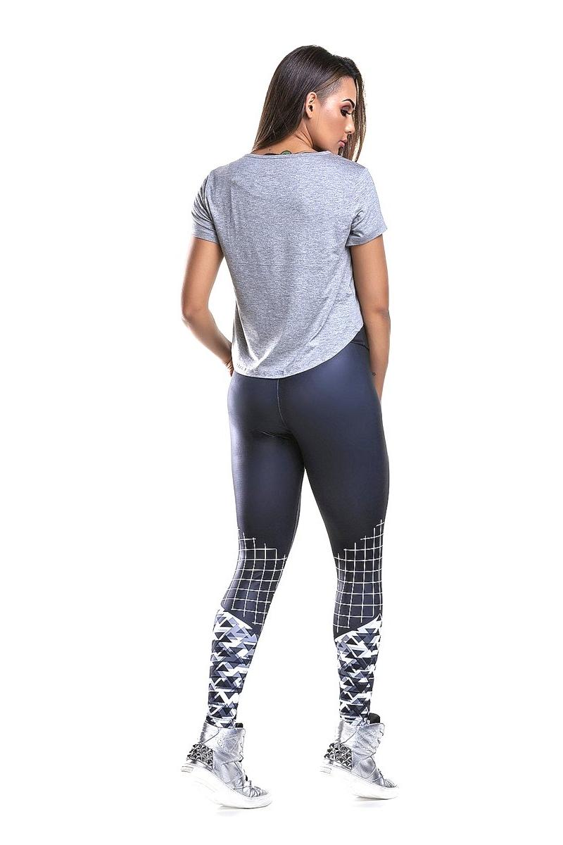 Zero Açucar Calça Legging Self Geometric 140204