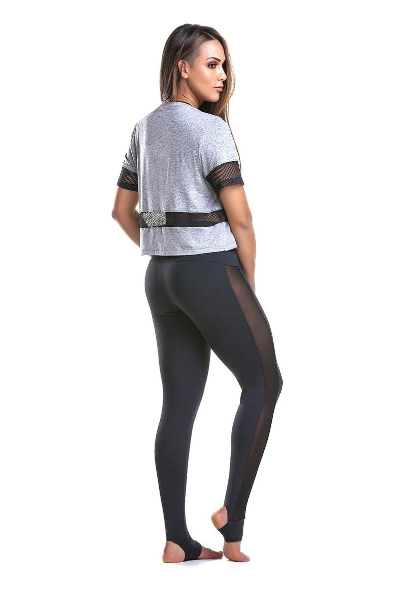 Zero Açucar Calça Legging Clear Preta 140218