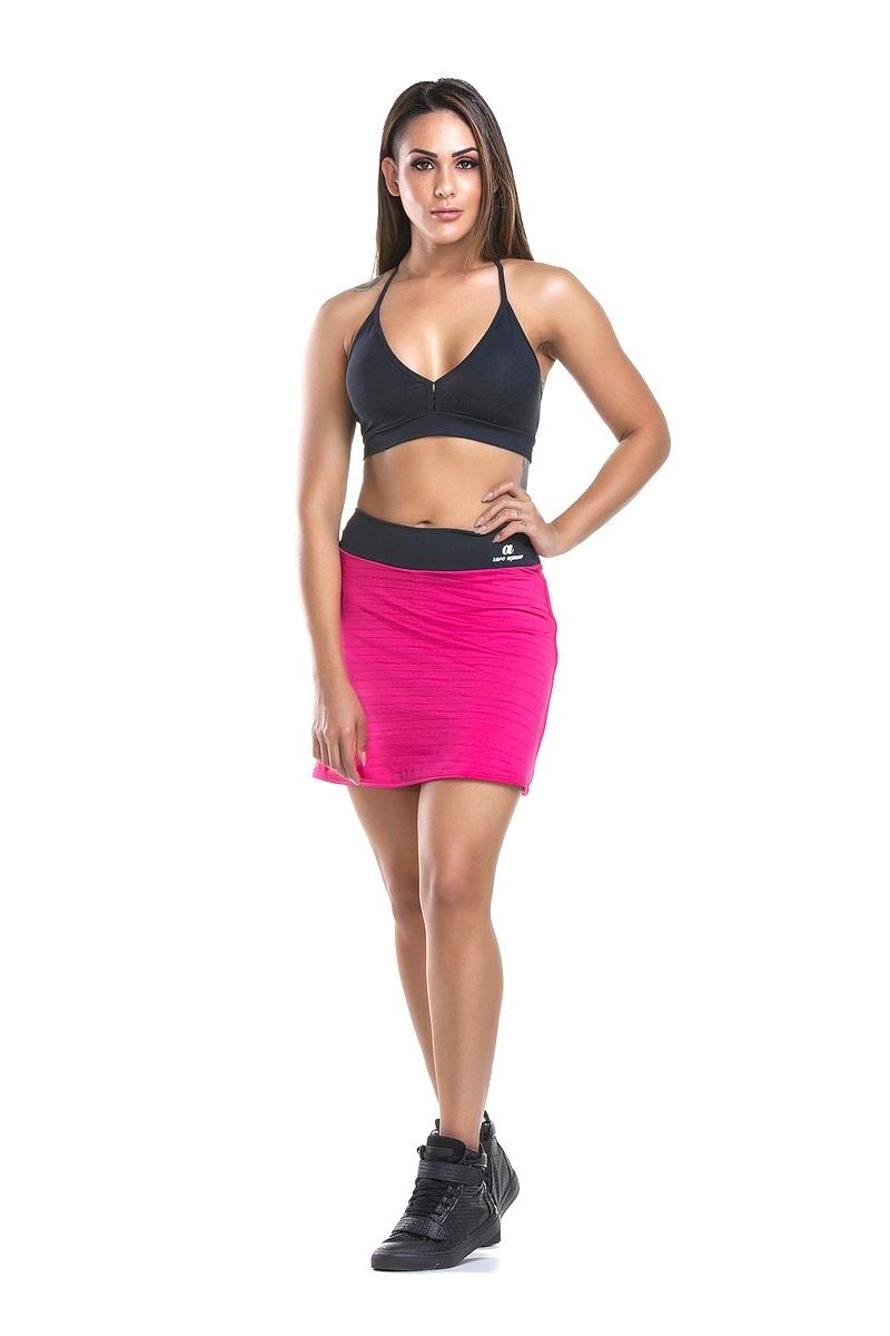 Zero Açucar Shorts Saia Pink 110124
