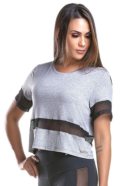 Zero Açucar Blusa Cropped Style Mescla 160171