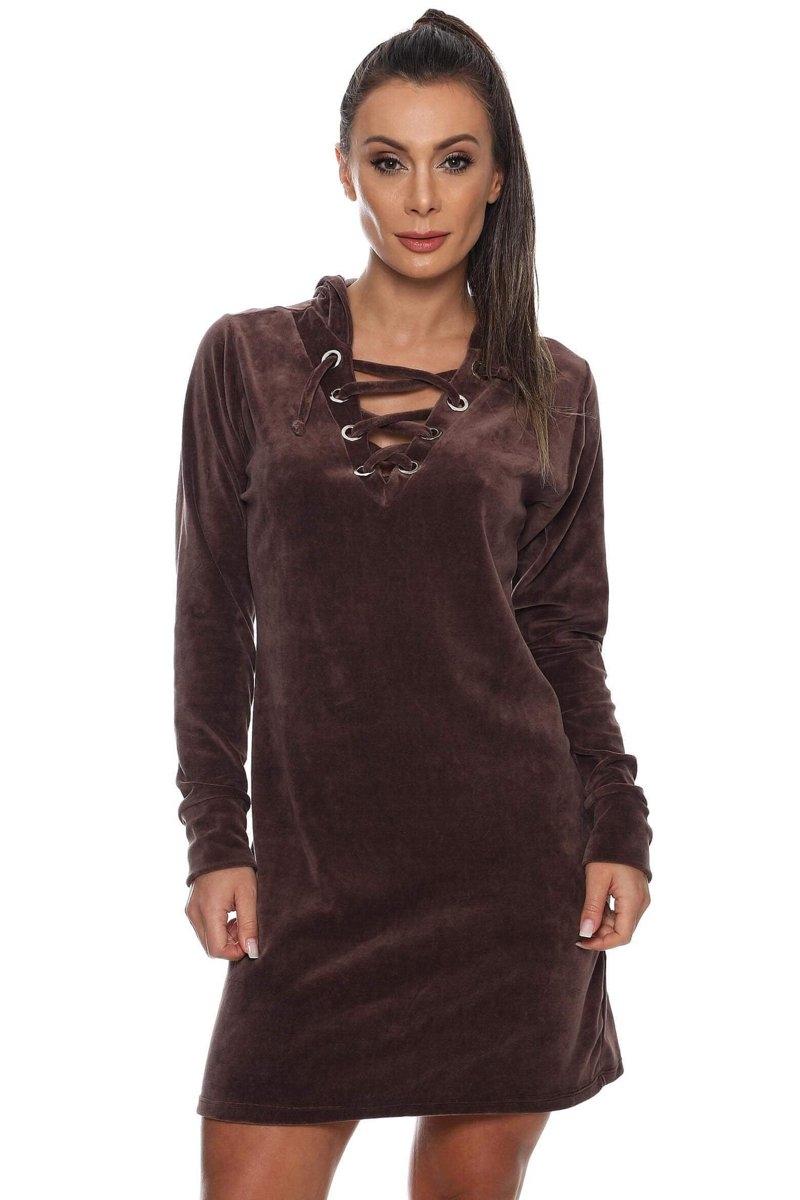 Canoan Vestido Bold Marrom 14052