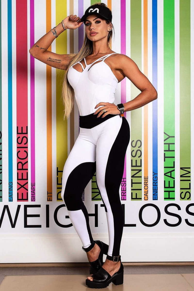 Canoan Pants Legging Scale White Booty Schunch 11795