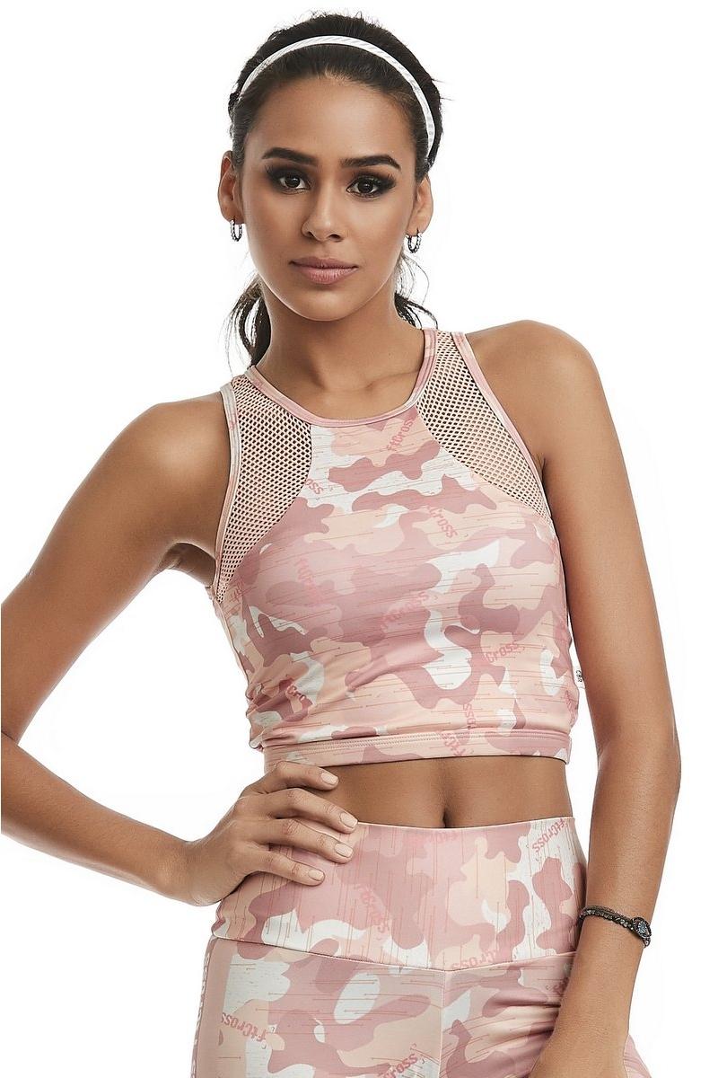 Caju Brasil Top  Cropped Ft Cross Harmony Rosa 11298F2R33