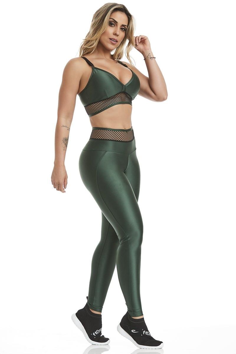 Caju Brasil Calça Legging Atletika Fashion Verde 11260F8168