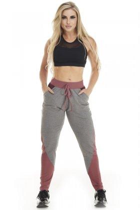 Calça Jogger Flex Mescla Escuro - Lets Gym C837B Fit You Fashion Fitness