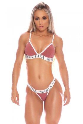 Maria Gueixa Biquíni Conjunto Diva Fitness Rosa Queimado 005968A