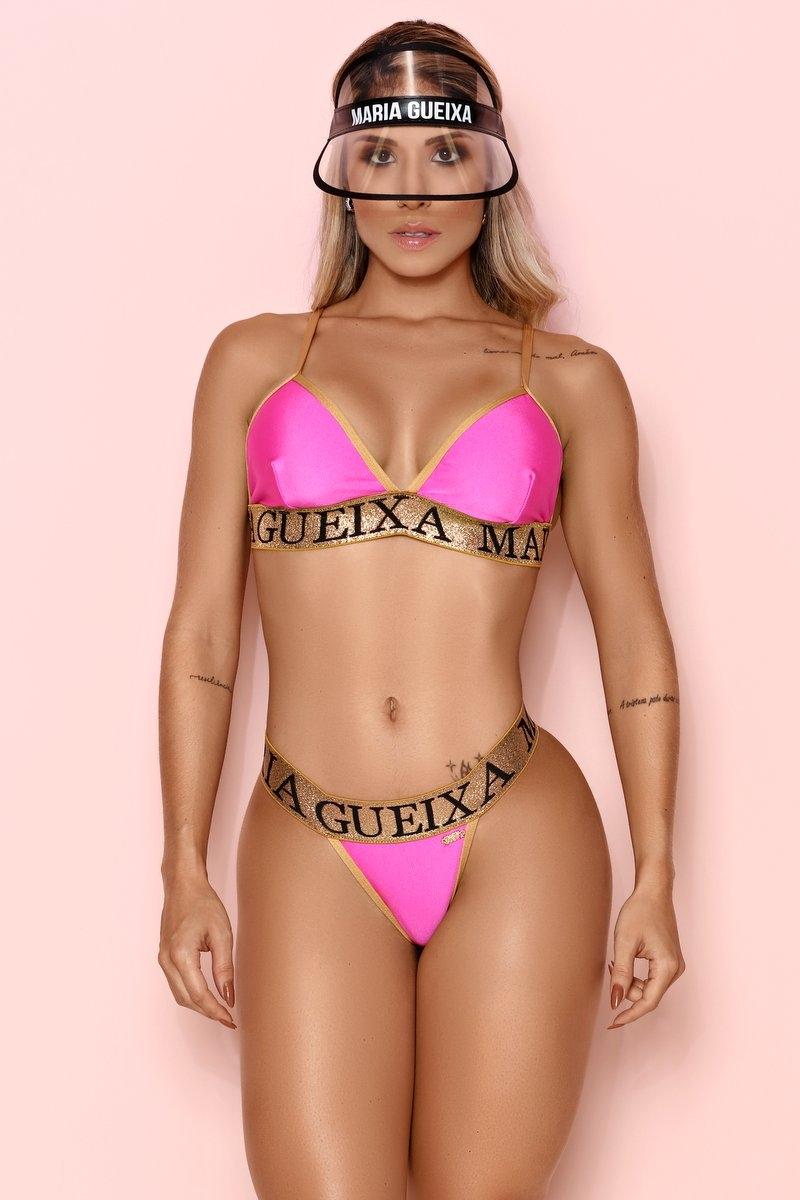 Maria Gueixa Biquíni Conjunto Elástico Lurex Gold 006294