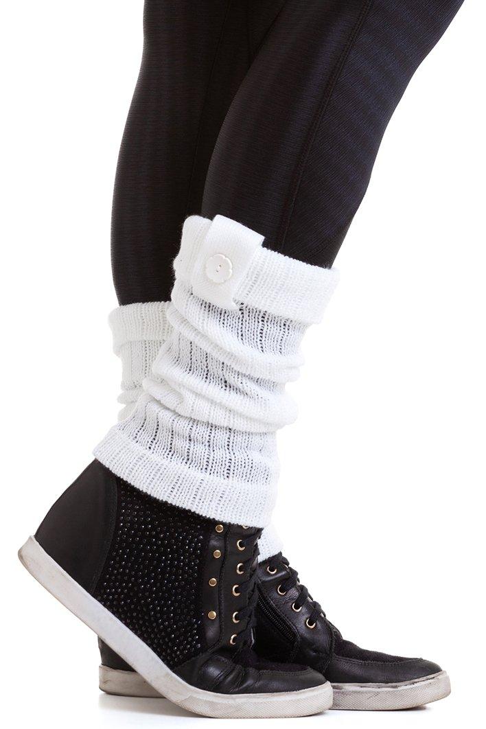 Garota Fit Polaina de Lã Branca POL01E