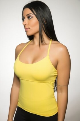 tank-shirt-square-yellow-garotafit-blq01t Garotafit Fashion Fitness e Praia