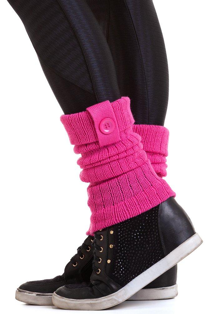 Garota Fit Polaina de Lã Pink POL01N