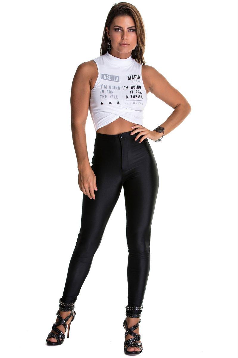 Labellamafia Calça Disco Pants Total Black MCL90131