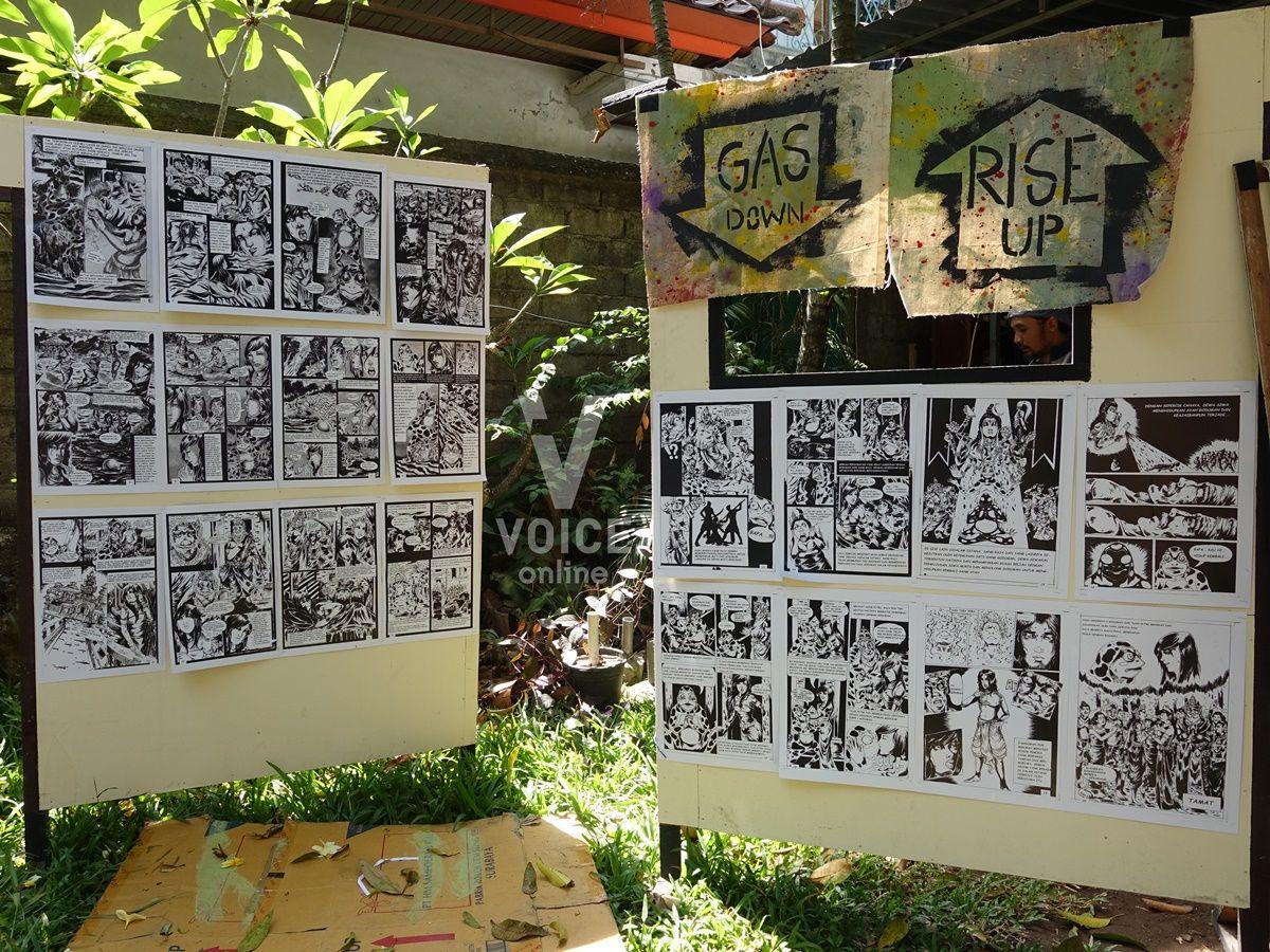 FeministCarnivalinBali-งานเฟมินิสต์ที่บาหลี-ศิลปินท้องถิ่น-การ์ตูน.JPG