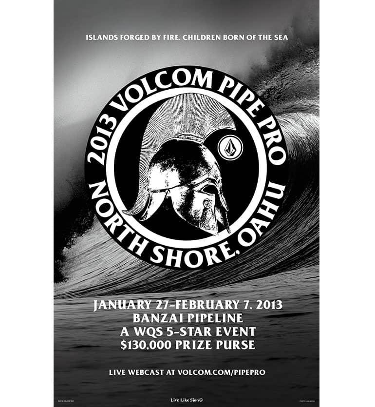 2013 Volcom Pipe Pro poster