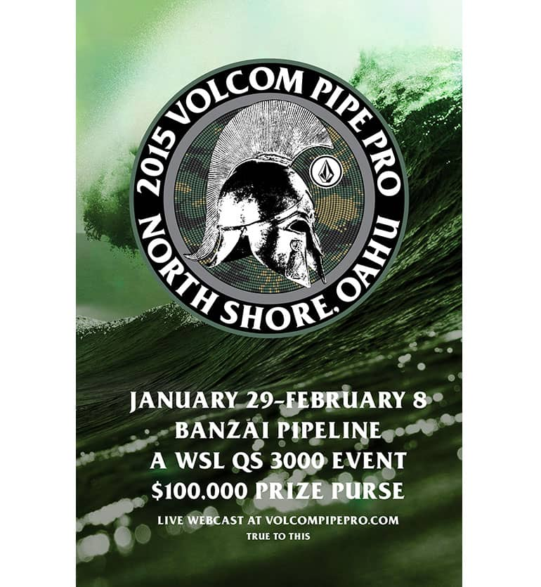 2015 Volcom Pipe Pro poster