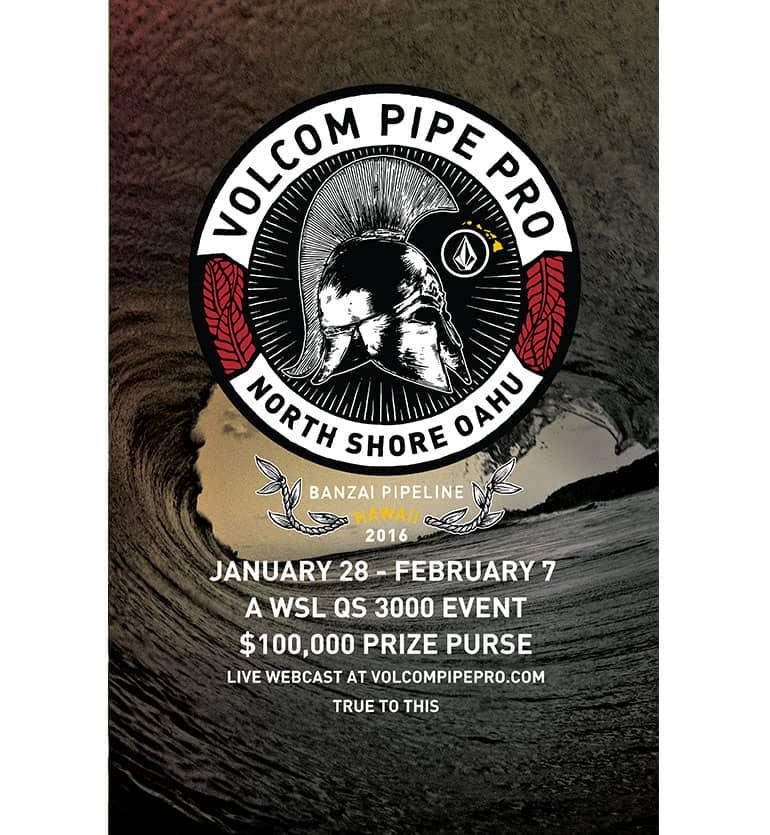 2016 Volcom Pipe Pro poster