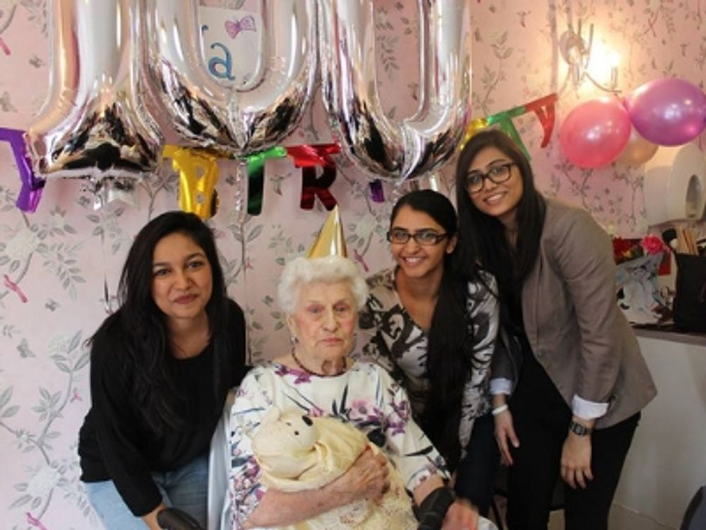Celebrating a 100th birthday with the Senior Citizens Venture