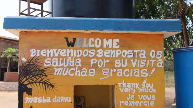 Water tank and welcome message