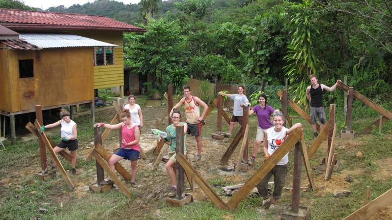 New community building in the Jungle