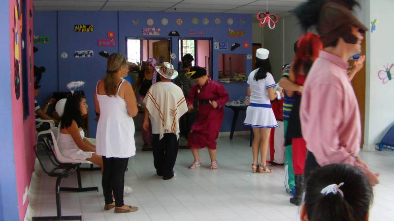 Dancing at the Special needs center