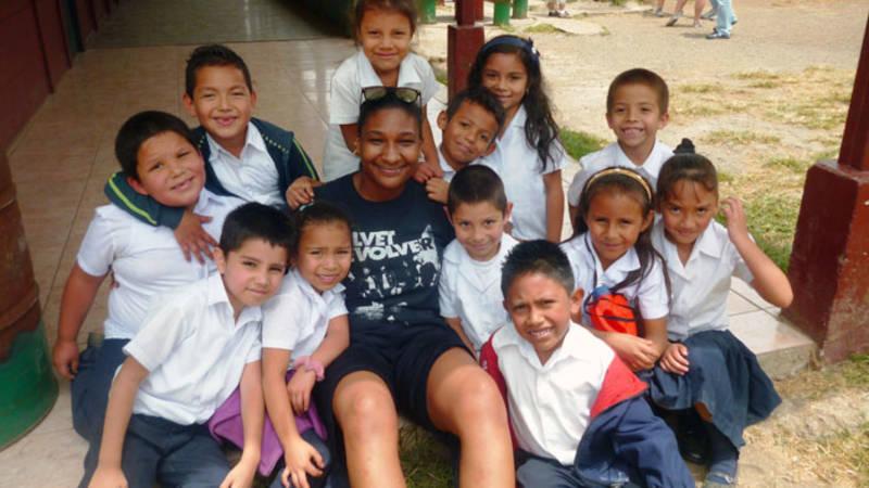 Volunteer work at an elementary school