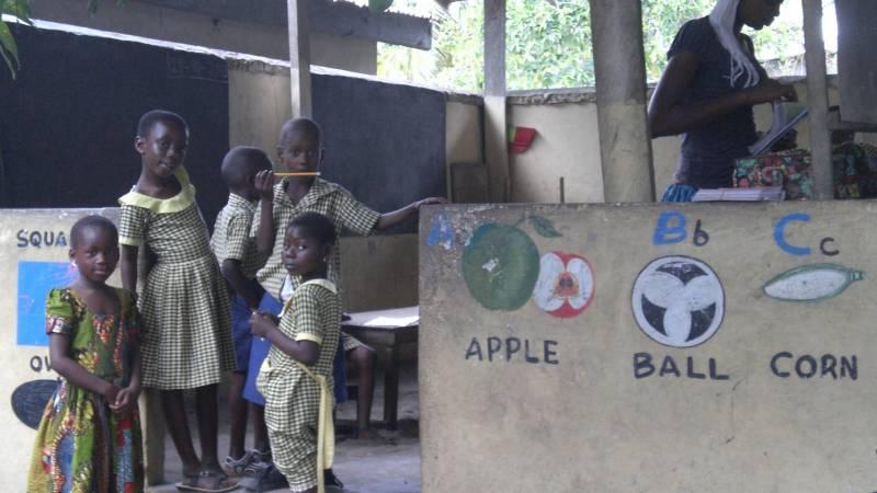 Nursery class in Ghana