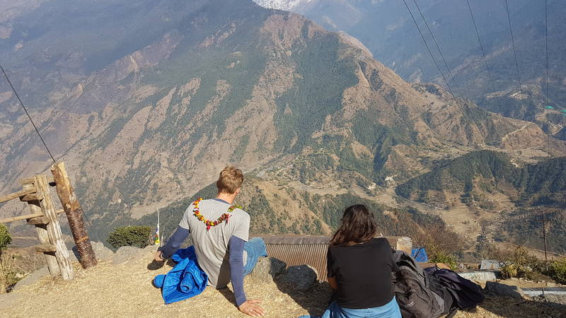 Volunteers viewing the views in off time